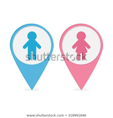 синий розовый туалет человека женщину Сток-фото © kurkalukas
