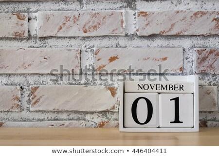 Cubes 1st November Stock photo © Oakozhan