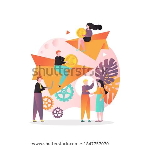 Mujer papel cartera digital Sydney Foto stock © lovleah