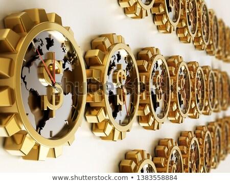 Globalny gospodarki złoty kółko narzędzi 3d ilustracji Zdjęcia stock © tashatuvango