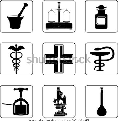 Vöröskereszt tál modern embléma egészségügy gyógyszer Stock fotó © Glasaigh