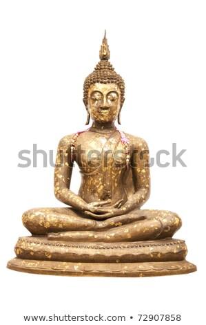 Buddha standbeeld geïsoleerd foto witte Geel Stockfoto © robuart