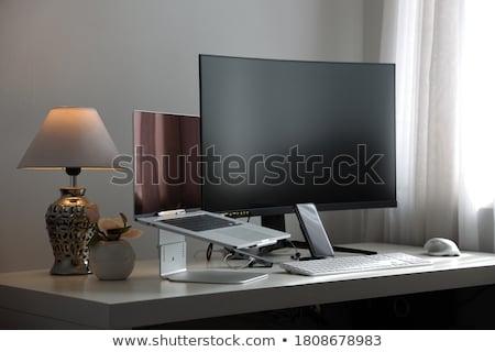 olho · monitor · computador · ilustração · homem · tecnologia - foto stock © blamb