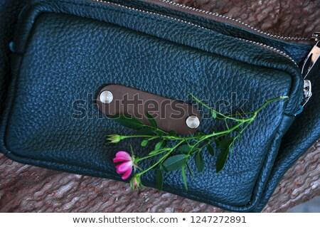 Denim fragment with pink zipper Stock photo © ivelin