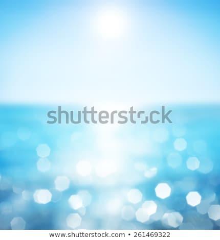 Bulanıklık mavi yaz sualtı doğa bulanık Stok fotoğraf © Terriana