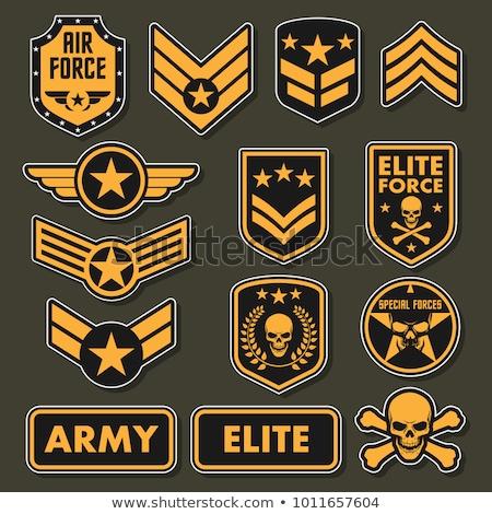 военных · набор · армии · вектора · символ · звезды - Сток-фото © andrei_