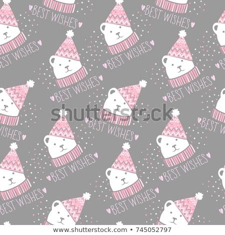 Boldog új évet pulóver minta terv kártya textúra Stock fotó © blumer1979