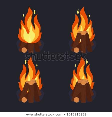 fogueira · desenho · animado · estilo · estrelas · doente · chocolate - foto stock © andrei_