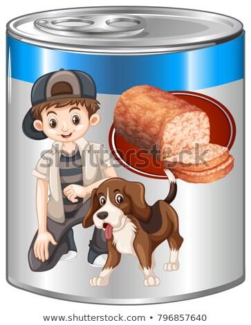Huisdier hond kan illustratie voedsel achtergrond Stockfoto © bluering