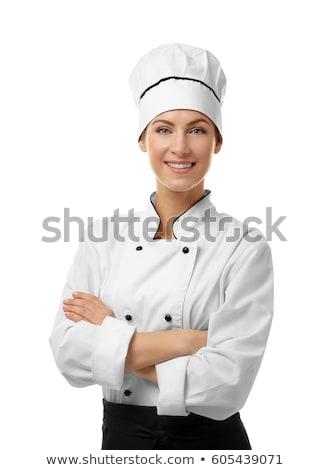 chef · vrouw · restaurant · keuken · poseren · vrouwelijke - stockfoto © is2