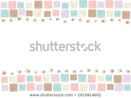 Evcil hayvan köpek renkli mozaik model grafik Stok fotoğraf © vector1st