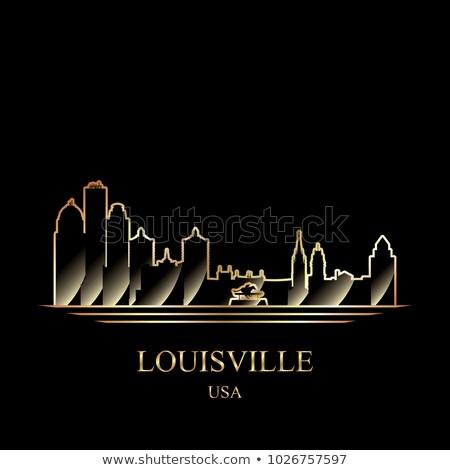 Kentucky · skyline · reflectie · water · hemel · gebouw - stockfoto © ray_of_light