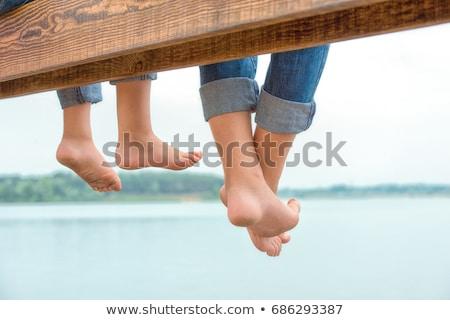 Rodziny relaks staw matka chłopca ojciec Zdjęcia stock © IS2