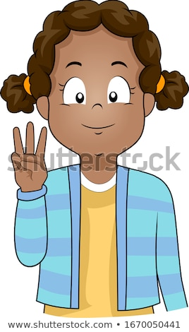 Kid Girl Count Stock photo © lenm