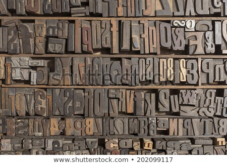 wooden letterpress closeup various typefaces stock photo © ashnomad