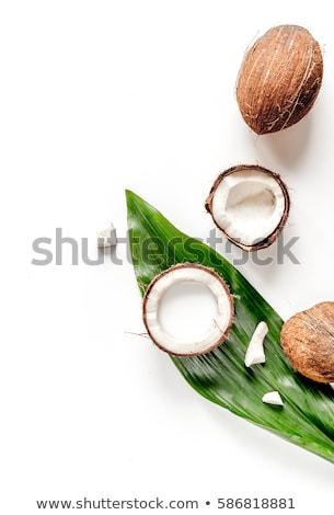 кокосового · деревенский · фон · завтрак · белый · свежие - Сток-фото © lana_m