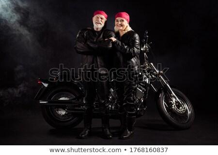 Teljes alakos kép boldog punk pár ölel Stock fotó © deandrobot