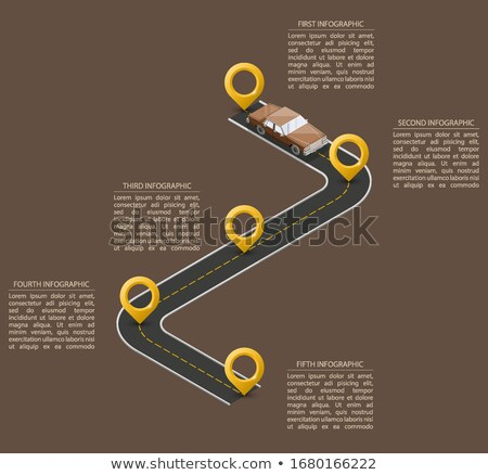 vector infographic timeline schema template stock photo © orson