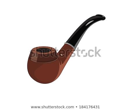 Tabacco fumare pipe vettore cartoon illustrazione Foto d'archivio © RAStudio
