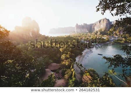 Pôr do sol paisagem montanha ver ponto Foto stock © blasbike