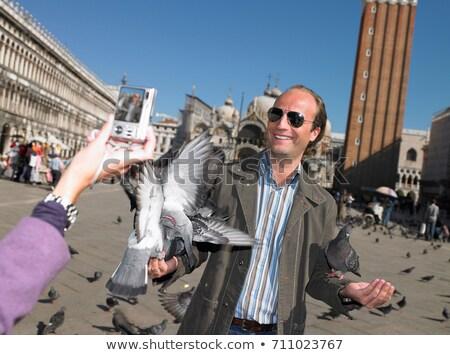 カップル ヴェネツィア 愛 鳩 冒険 観光 ストックフォト © IS2