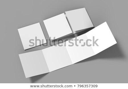 four fold paper mockup design Stock photo © SArts