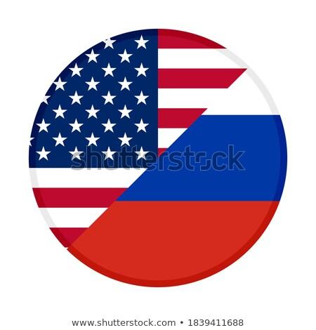USA vs Russie drapeaux conflit sombre Photo stock © romvo