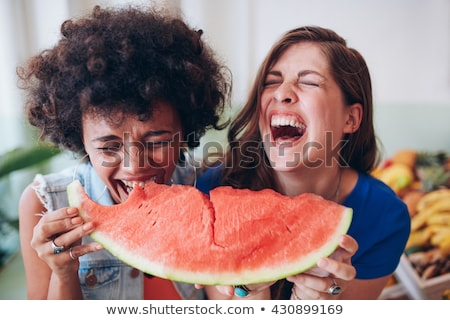bambino · mangiare · anguria · felice · esterna · shot - foto d'archivio © is2