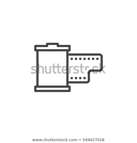 Film patron vonal ikon vektor izolált Stock fotó © RAStudio