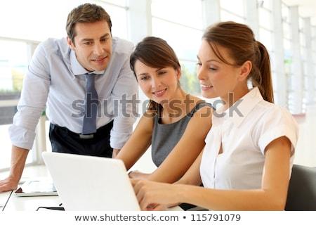 Business meeting european men in office Stock photo © studioworkstock