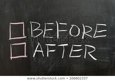 Opposite words for before and after Stock photo © bluering