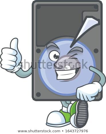 Mascot Happy USB Drive Thumbs Up Stock photo © lenm