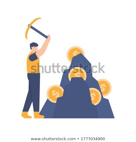 Virtueel valuta munt illustratie teken icon Stockfoto © tashatuvango
