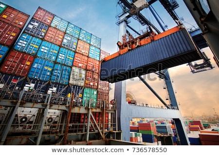 Portu pojemnik działalności przemysłu statku Zdjęcia stock © tracer