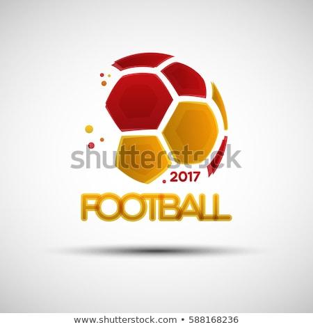 サッカーボール スペイン国旗 孤立した 白 デザイン ボール ストックフォト © orensila