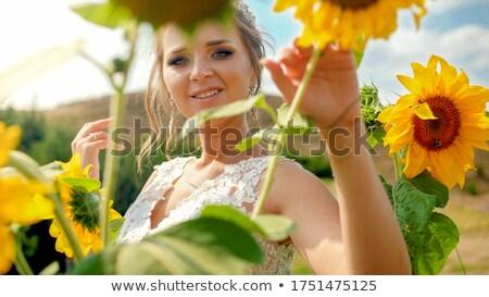 schwanger · Braut · Hände · zurück · Frauen - stock foto © boggy
