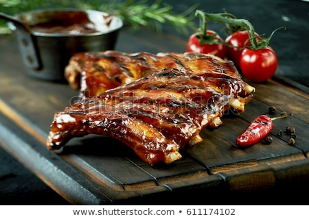 Stock photo: Ribs on the grill