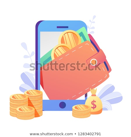 Stockfoto: Digitale · valuta · vector · sturen · web · icon · element