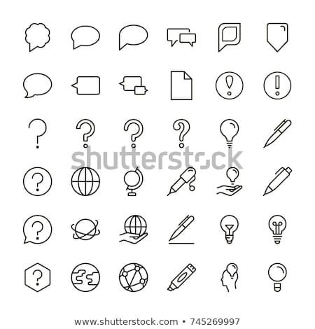 Ponto de interrogação ícone linha estilo livro arte Foto stock © taufik_al_amin