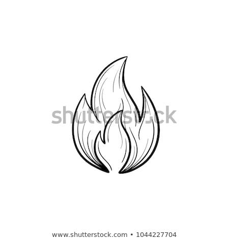 Fire flame hand drawn sketch icon. Stock photo © RAStudio