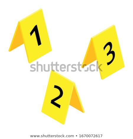 Cena do crime evidência investigação forense Foto stock © dolgachov
