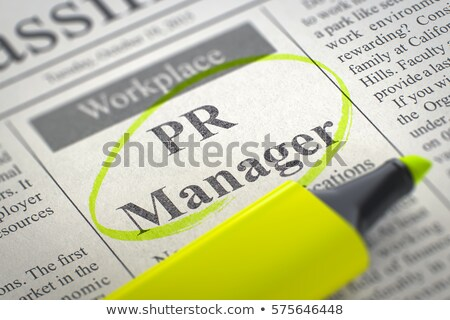 Job Opening PR Manager. 3D. Stock photo © tashatuvango
