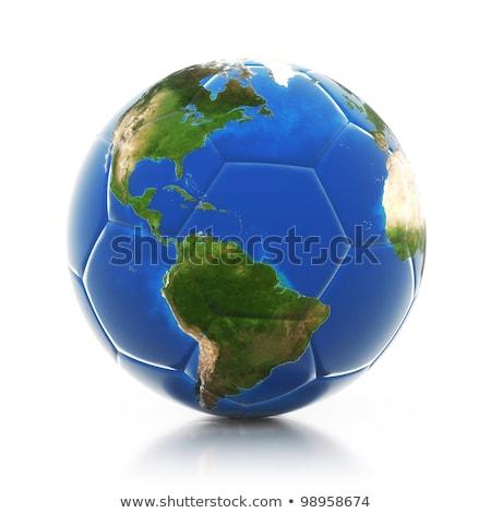 Fútbol balón de fútbol planeta tierra campeonato arte pop retro Foto stock © studiostoks
