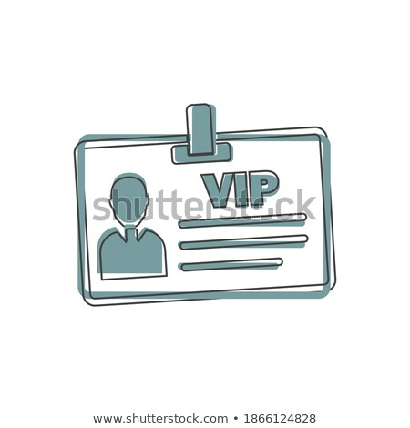 Stock photo: Badge worker isolated. Business cartoon style template. Vector i