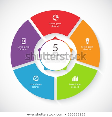 Vector infographic circle. Template for graph, cycling diagram, round chart, workflow layout, number Stock photo © kyryloff
