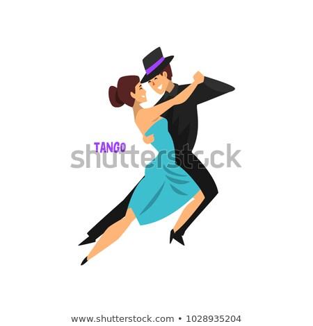 танцы клуба плакат пару красивой профессиональных Сток-фото © Terriana