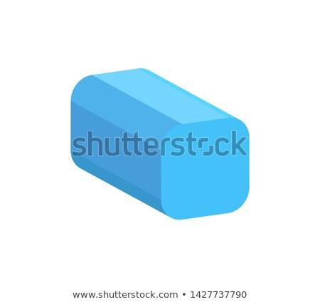 квадратный призма красочный баннер синий Сток-фото © robuart