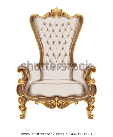 Baroque armchair with luxurious ornaments. Vector French Stock photo © frimufilms