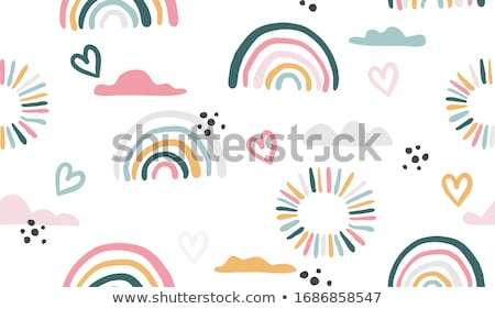 Gökkuşağı vektör duvar kağıdı geometrik renkli yeşil Stok fotoğraf © unweit