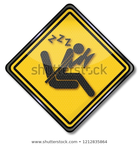 sign with sudden micro sleep at the car steering wheel stock photo © ustofre9